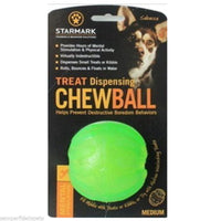 Starmark Treat Dispensing Chew ball Medium 6.5cm diameter