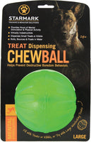 Starmark Treat Dispensing Dog Chew ball Large 10cm  x 3 balls