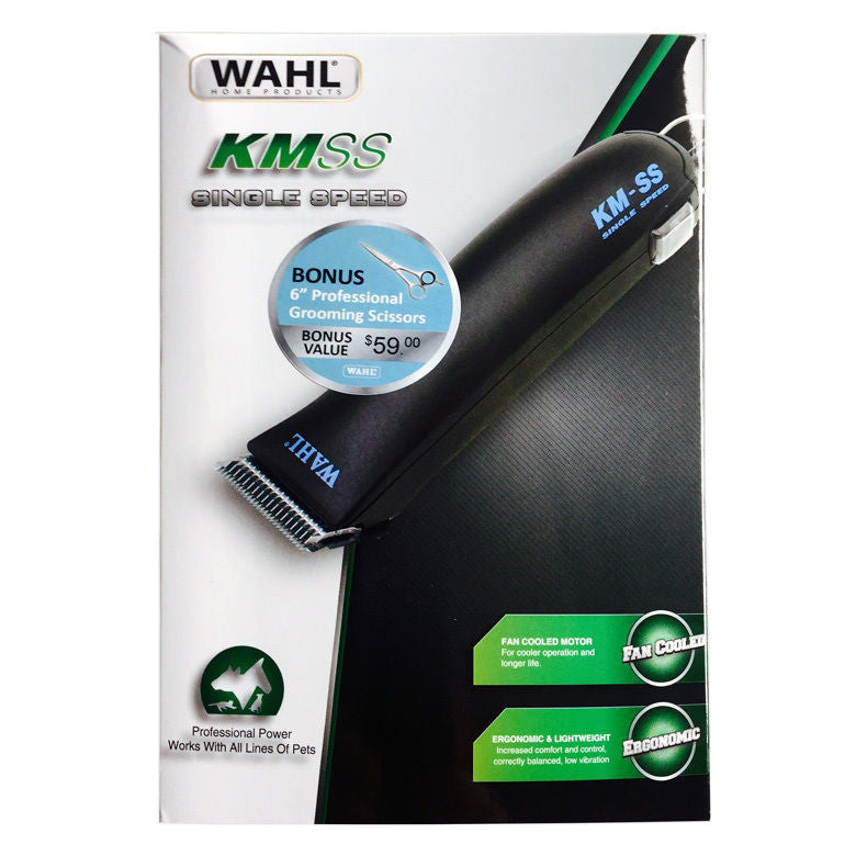 "Wahl KM-SS Single Speed Grooming Kit with Bonus 6"" Professional Scissors"