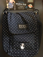 DOOG Walkie Bag - Blue with White Polka Dots for Dog Walking