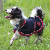 Weatherbeeta Fleece Dog Coat Navy/Red/White Breathe Easy Machine Wash