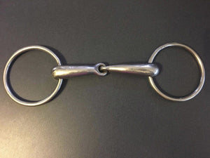 "Horse Thick Hollow Loose Ring Snaffle Bit 115mm/4.5"" with 3"" Rings"