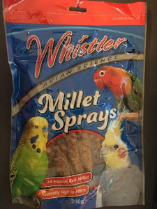 Whistler Natural Millet Sprays (Premium Red) 200g for Birds