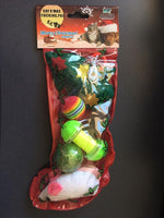 Xmas Christmas Stocking with Toys for Cats