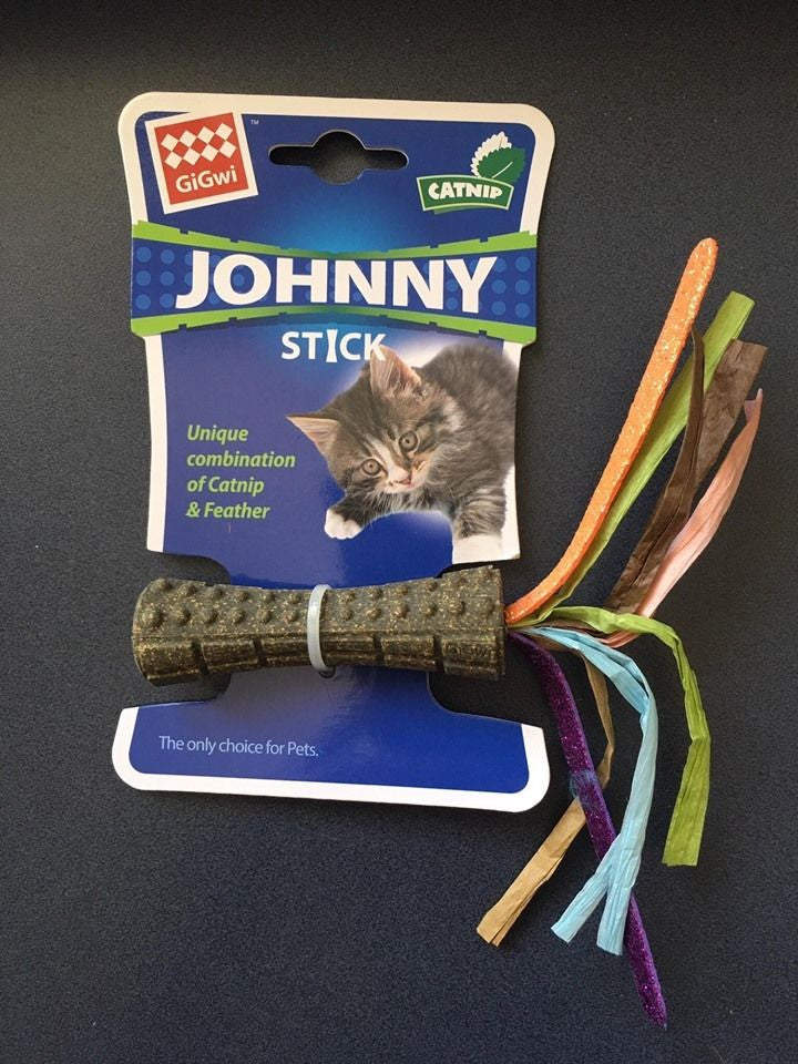 GiGwi Cat Johnny Stick with Catnip and Coloured Paper Cat Toy