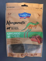 Mighty Raw Kangaruffs Kangaroo with Peas Natural Grain Free Dog Treats 210g