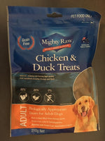 Mighty Raw Chicken & Duck Adult Dog Treats 210g