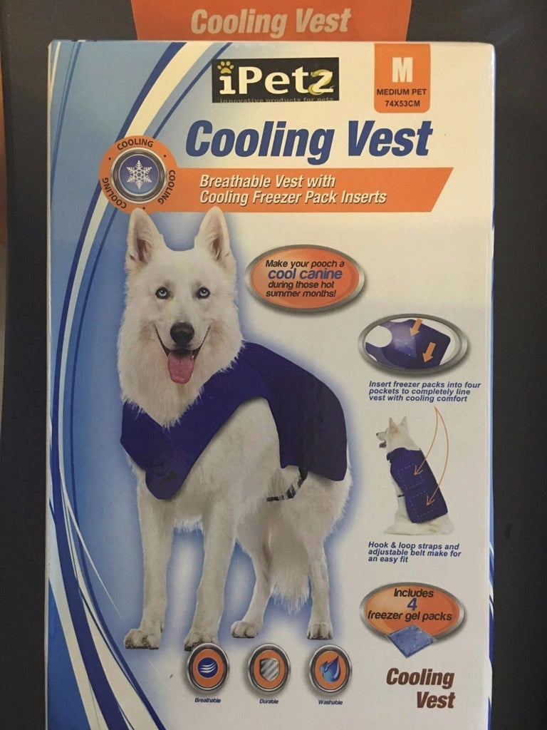 iPetz Cooling Vest for Medium Sized Dogs/Pets - 74x53cm