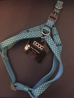 DOOG Snoopy Dog Harness - Blue with White Polkadots