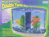 Penn Plax Betta Bow-Front Double Tank Kit Aquarium Kit