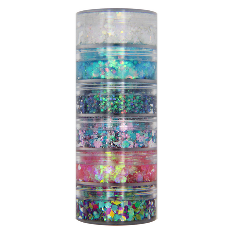 NEW!!! 6-Color Mermaid Stacked Jar