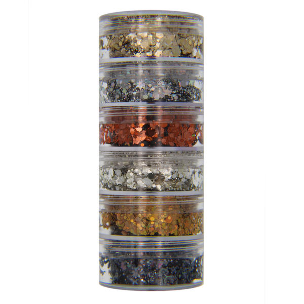 6-Color Metallic Stacked Jar