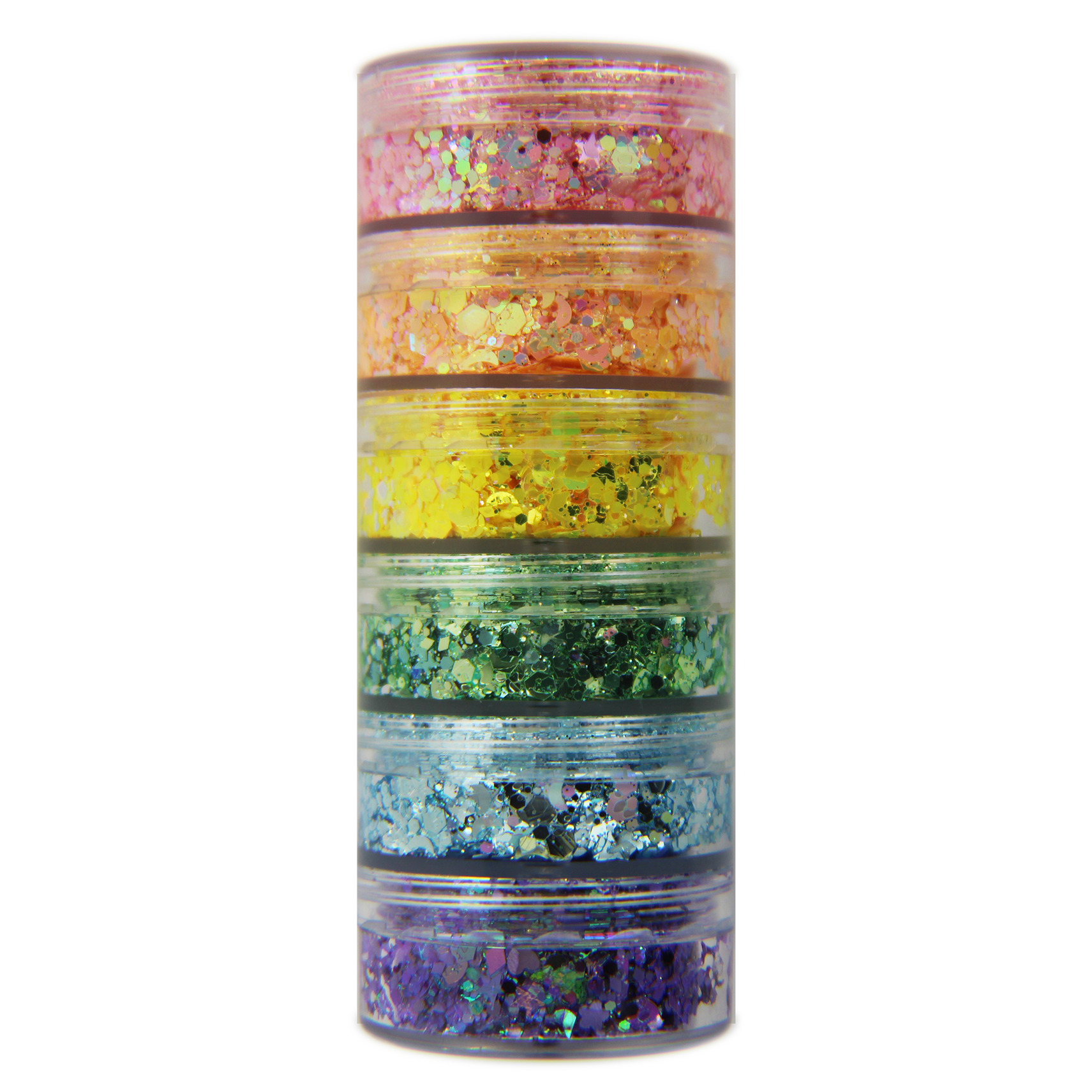 NEW!!! 6-Color Pastel Stacked Jar