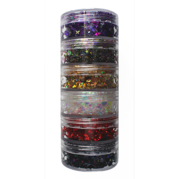 6-Color Stacked Jar (C)