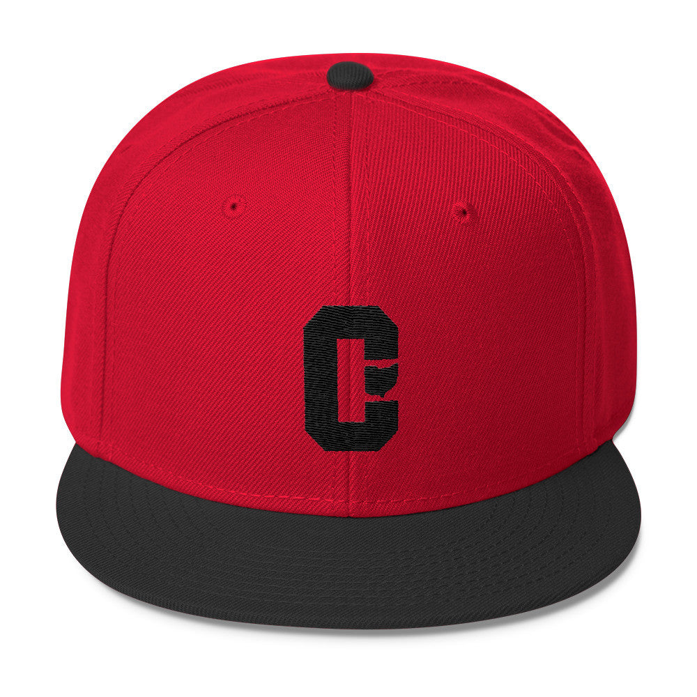Cleveland Block Letter C With Ohio Shape Wool Blend Snapback  Ohio Hats