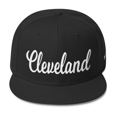 ... Cleveland Whipped Script Wool Blend Snapback - Ohio Hats cea6b3ce99dd