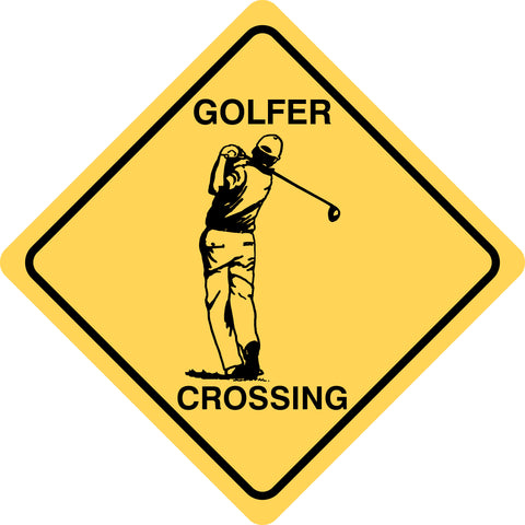 Golfer Crossing