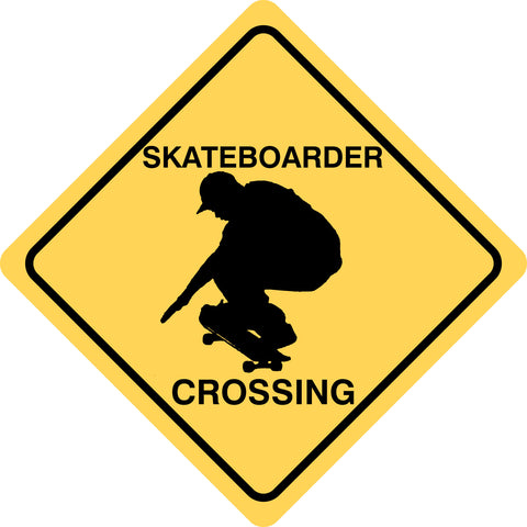 Skateboarder Crossing