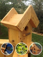Creative Woodcraft Living Roof Bird House1