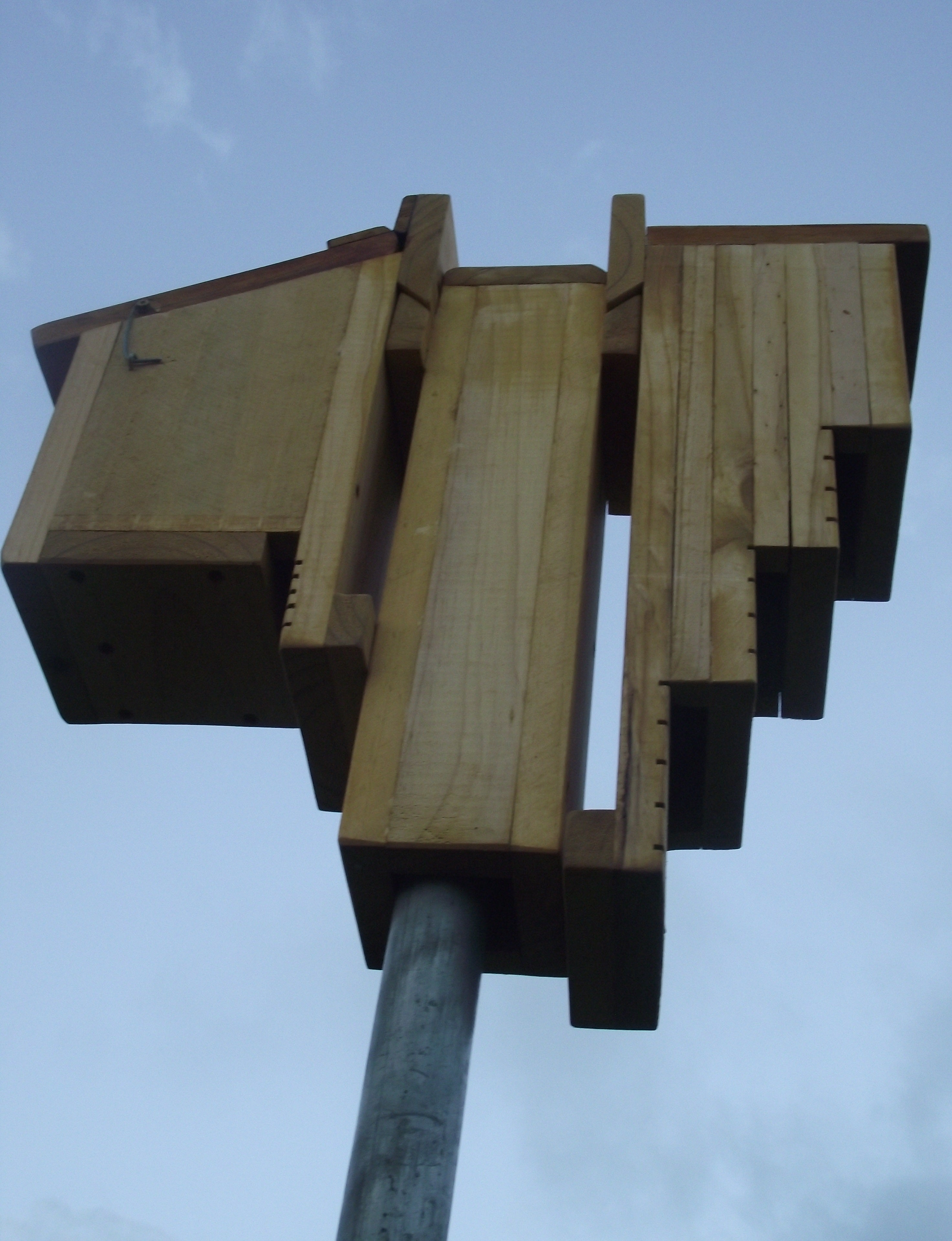 Creative Woodcraft Bat Roosting Boxes Installed using pole mounting bracket 2