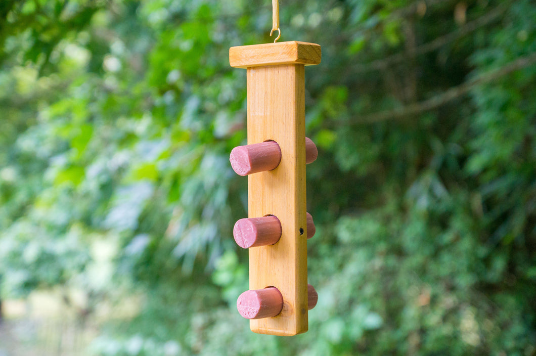 Wild Bird Energy Log Feeder - Creative Woodcraft New Zealand