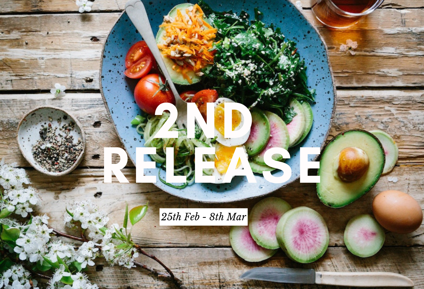 2nd Release: Time for colour! - 2 week plant based program