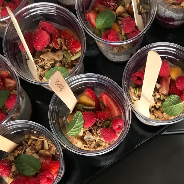 Mini Granola Pots + Coconut Yoghurt + Fruit