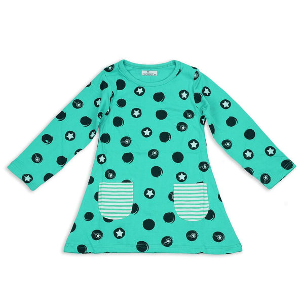 Coconut Teal Star Dress - cutelittlemonster.com