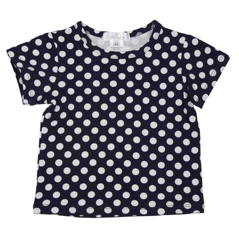 Coconut Navy Dot Tee