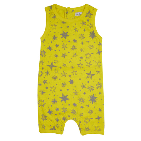 Coconut Yellow Star Romper