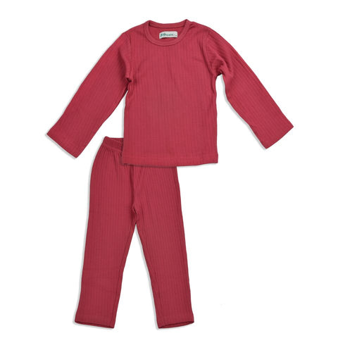 J' suis Ribbed Cherry Pajama