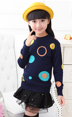 Blue Circle Sweater Top - cutelittlemonster.com