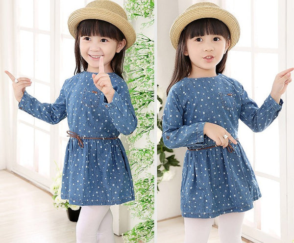 Denim Star dress - cutelittlemonster.com