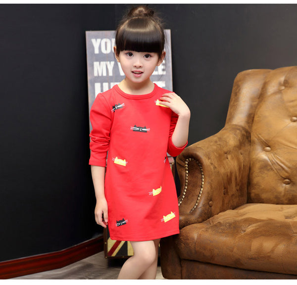 Red Cat Dress - cutelittlemonster.com