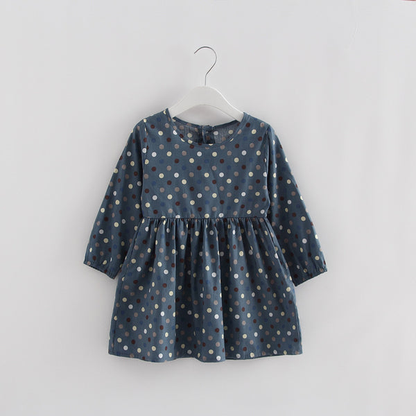 Powder Blue Polka Dot Dress - cutelittlemonster.com