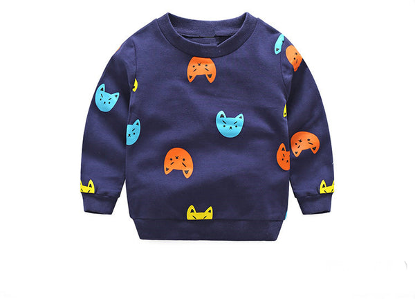 Navy Cat Top - cutelittlemonster.com