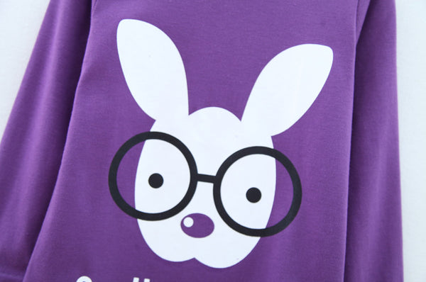 Purple Bunny Tee - cutelittlemonster.com