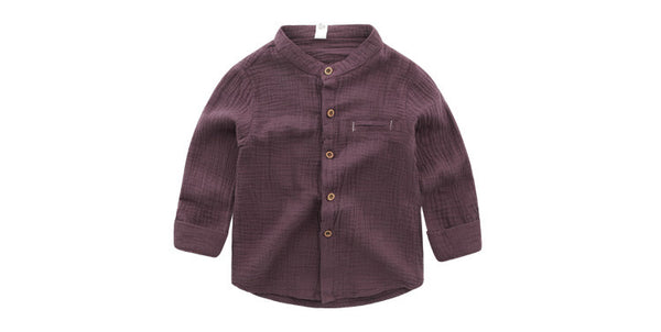 Burgundy Oliver Shirt - cutelittlemonster.com