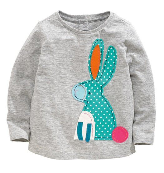 Teal Dot Bunny Tee - cutelittlemonster.com
