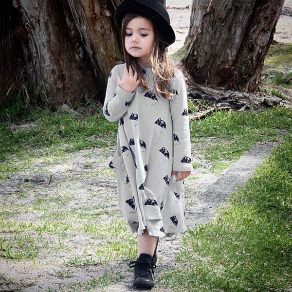 Mouse Cotton Dress - cutelittlemonster.com