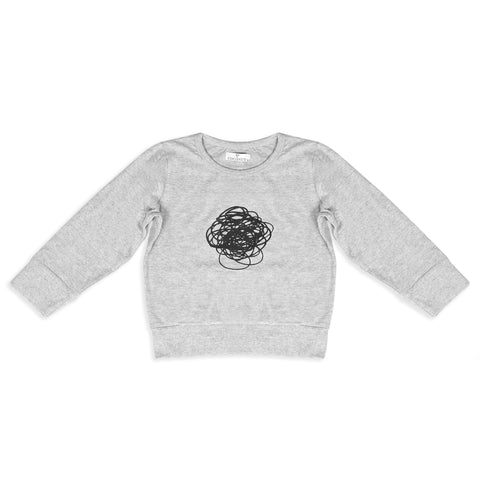 Coconut Grey Squiggle Sweatshirt Tee