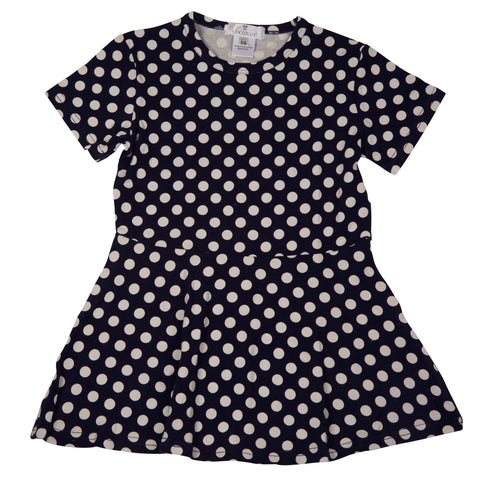 Coconut Navy Dot Dress
