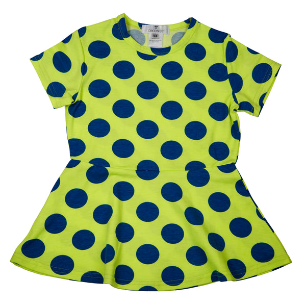 Coconut Green Dot Dress - cutelittlemonster.com