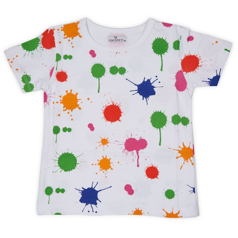Coconut Color Splatter Tee