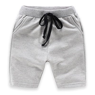 Grey Slim Leg Cotton Shorts