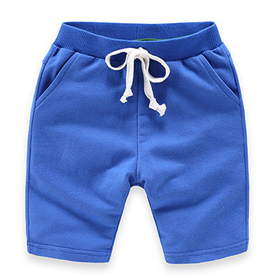 Cobalt Slim Leg Cotton Shorts