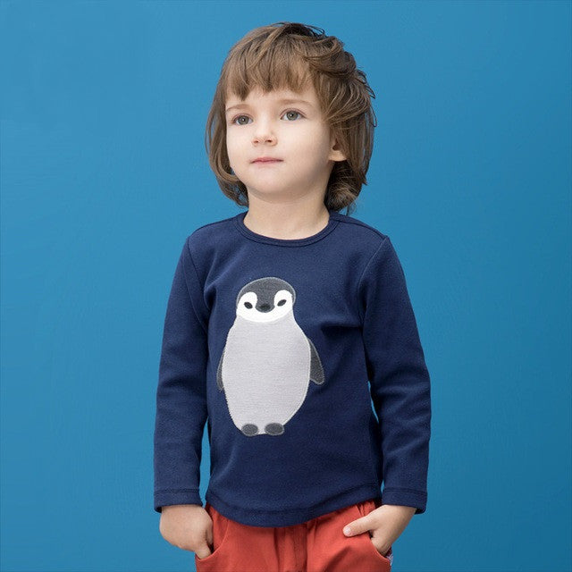 Navy Penguin Tee - cutelittlemonster.com