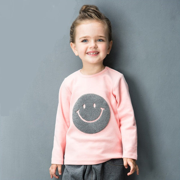 Pink Smiley Tee - cutelittlemonster.com