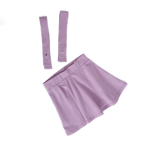 Coconut Lavender Detachable Suspender Skirt
