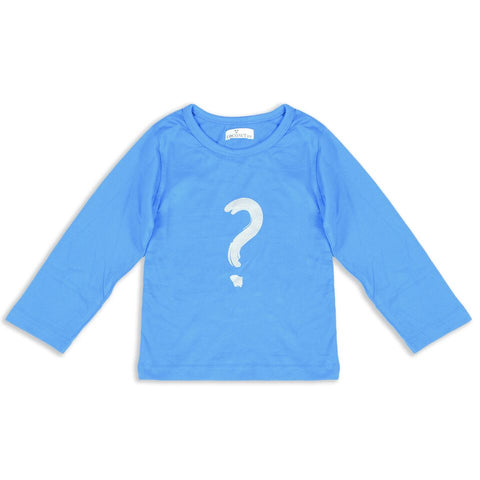 Coconut Cobalt Question Mark Tee